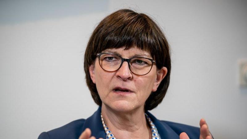 Saskia Esken, Bundesvorsitzende der SPD. Foto: Michael Kappeler/dpa/Archivbild