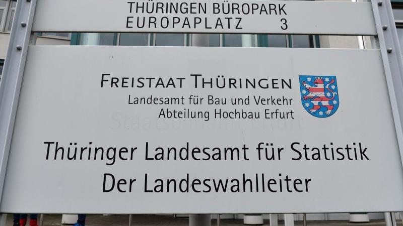 Der Bürokomplex mit dem Sitz des Thüringer Landesamtes für Statistik. Foto: Martin Schutt/dpa-Zentralbild/dpa/Archivbild