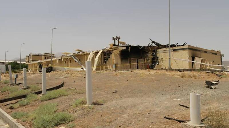 Ein von einem Feuer stark beschädigtes Gebäude der iranischen Atomanlage Natans. Foto: Uncredited/Atomic Energy Organization of Iran/AP/dpa