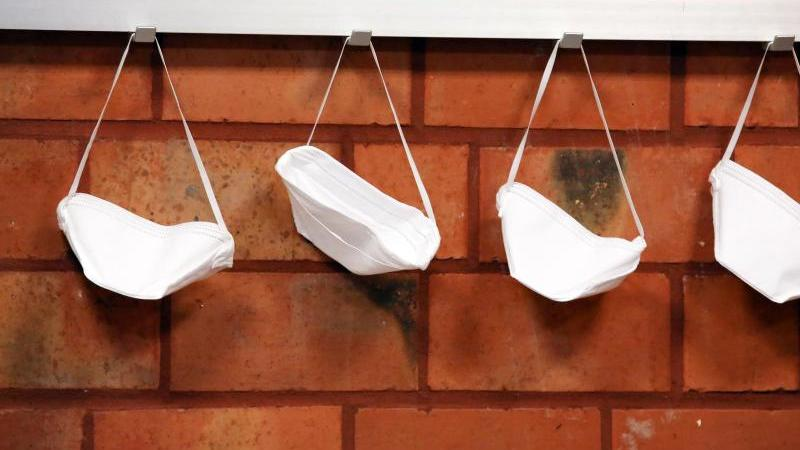 Mundschutzmasken. Foto: Rene Traut/dpa/Symbolbild