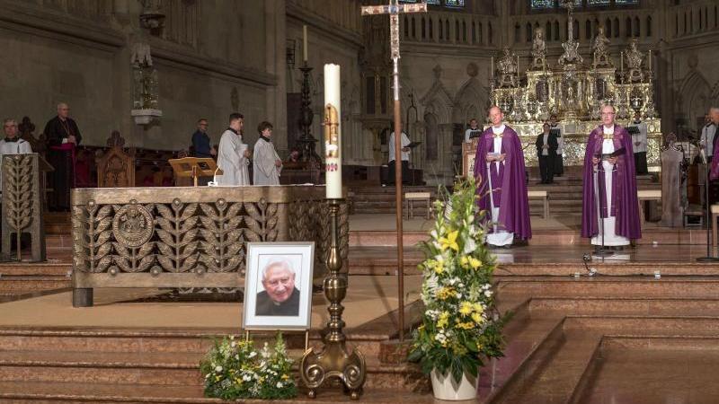 Trauervesper der Domspatzen für Georg Ratzinger. Foto: Uwe Moosburger/Bistum Regensburg/dpa