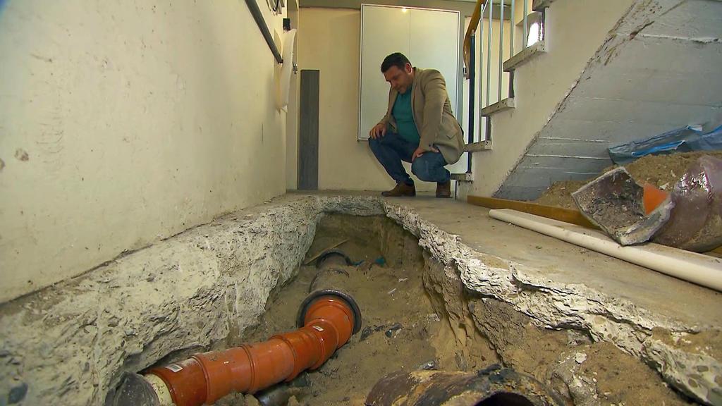 Bild der Verwüstung im Keller.