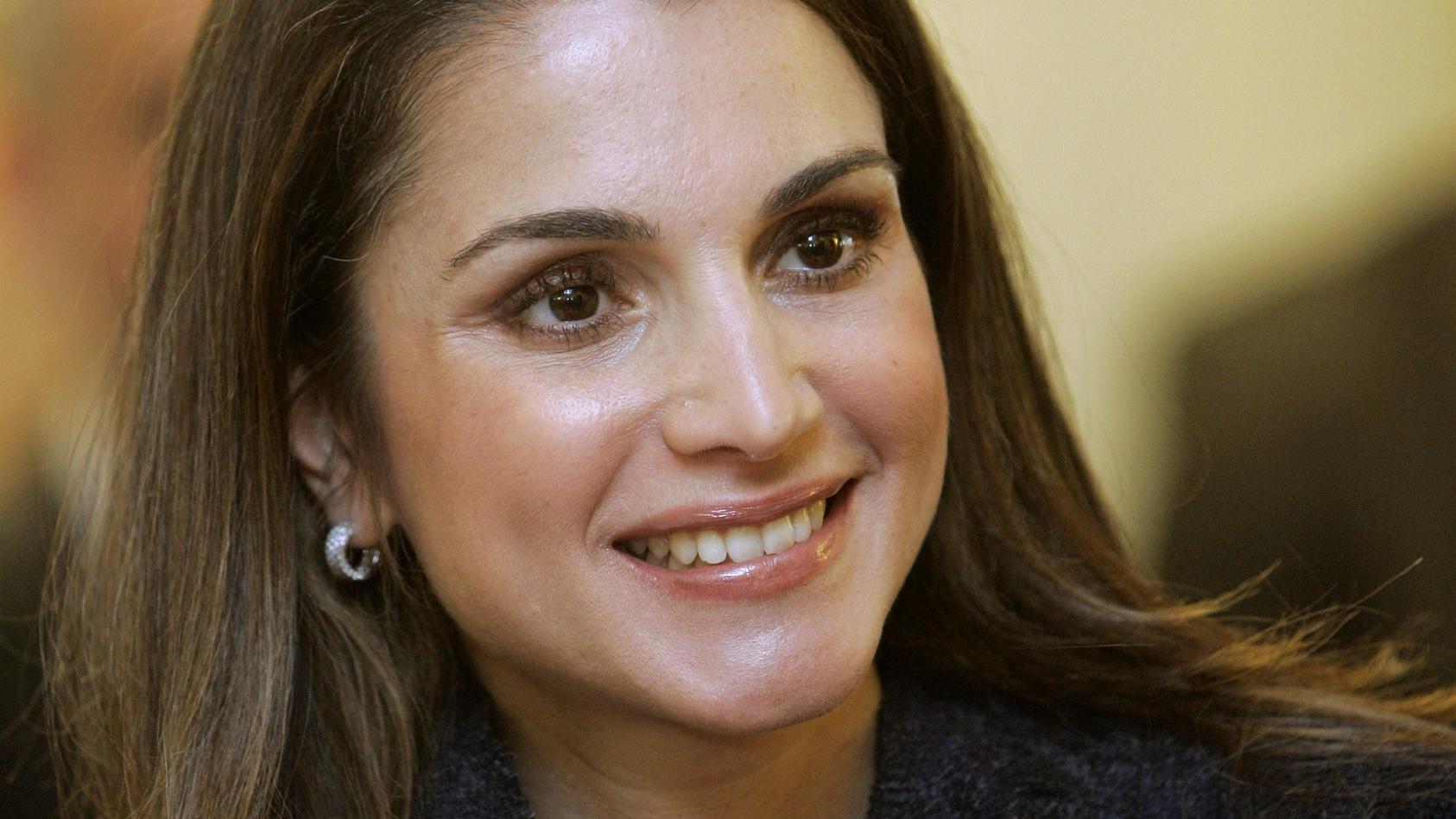 Königin Rania von Jordanien im Jahr 2007.