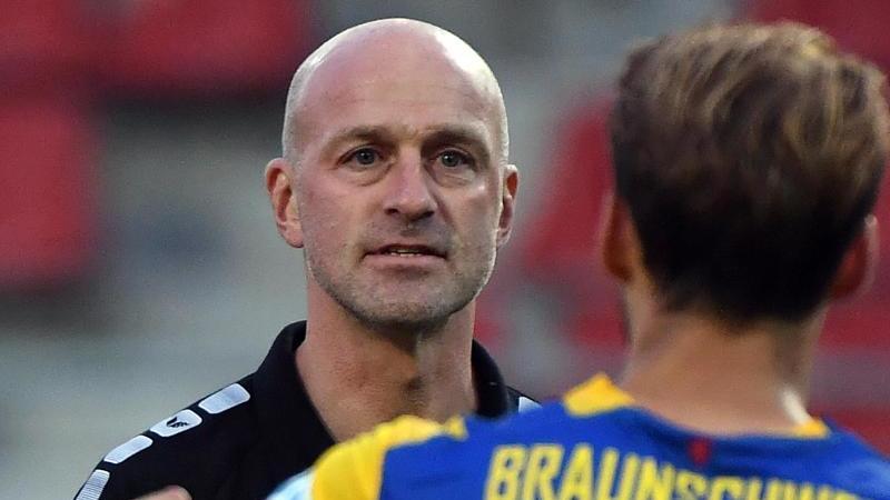 Fußball, Eintracht-Trainer Marco Antwerpen. Foto: Hendrik Schmidt/dpa-Zentralbild/dpa
