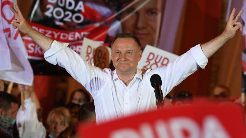 Amtsinhaber Andrzej Duda will Präsident in Polen bleiben. Foto: Darek Delmanowicz/PAP/dpa
