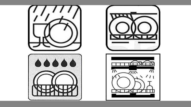 Spülmaschinen-Zeichen können ziemlich unterschiedlich aussehen.