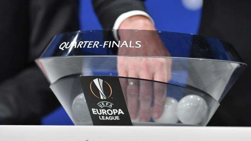 Die Auslosung für das Viertelfinale und Halbfinale der UEFA Europa League 2019/20. Foto: Harold Cunningham/UEFA via Getty Images/dpa/Archivbild