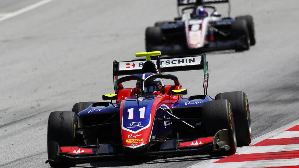 SPIELBERG, AUSTRIA - JULY 04: David Beckmann of Germany and Trident (11) drives on track during the feature race for the Formula 3 Championship at Red Bull Ring on July 04, 2020 in Spielberg, Austria. (Photo by Mark Thompson/Getty Images)