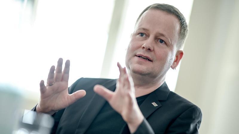 Klaus Lederer (Die Linke), Senator für Kultur und Europa des Landes Berlin. Foto: Britta Pedersen/dpa-Zentralbild/ZB/Archivbild