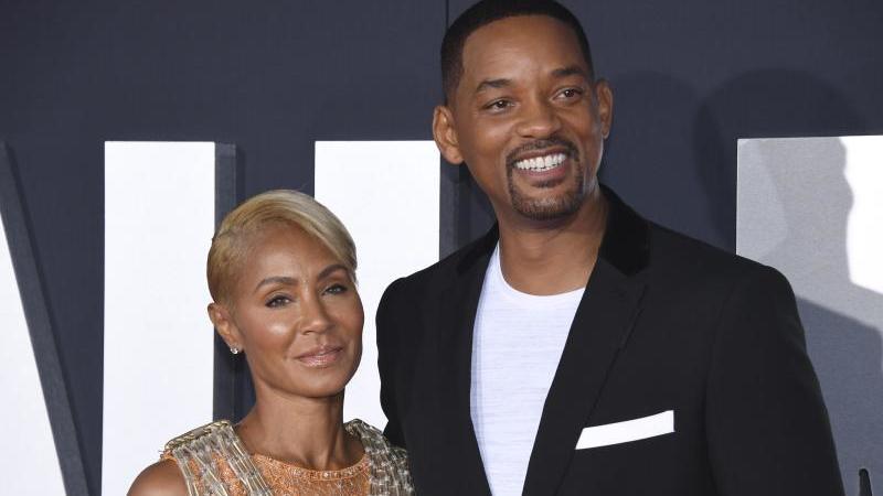 "Will Smith und Jada Pinkett Smith bei der Premiere des Films ""Gemini Man"" 2019 in Los Angeles. Foto: Phil Mccarten/Invision/AP/dpa"