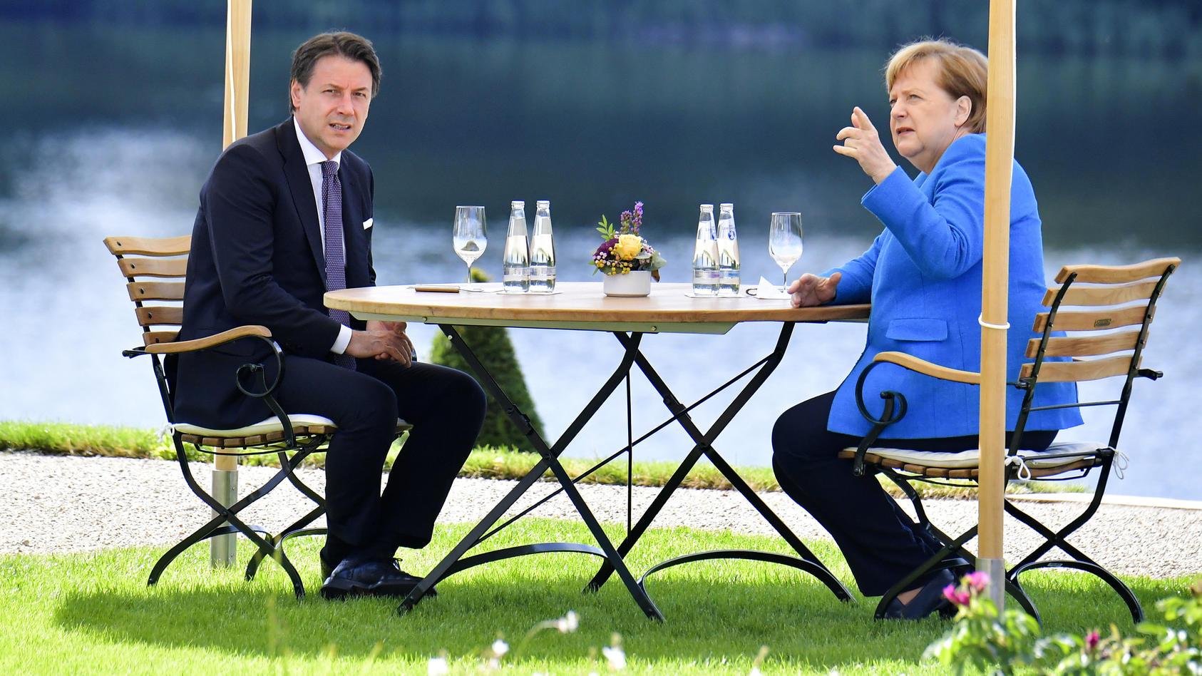 Bundeskanzlerin Angela Merkel empfängt Italiens Premier Conte