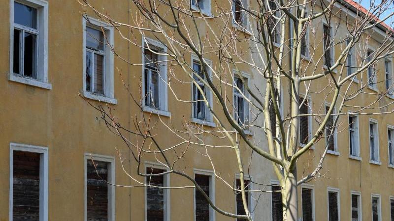 Ein verfallenes Gebäude. Foto: Patrick Pleul/dpa/Archivbild