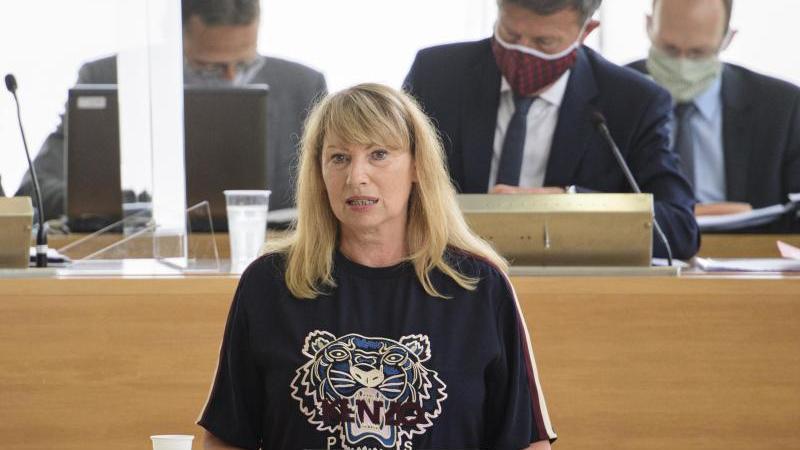 Petra Köpping (SPD) hält während der Sitzung des Sächsischen Landtages eine Fachregierungserklärung. Foto: Robert Michael/dpa-Zentralbild/dpa
