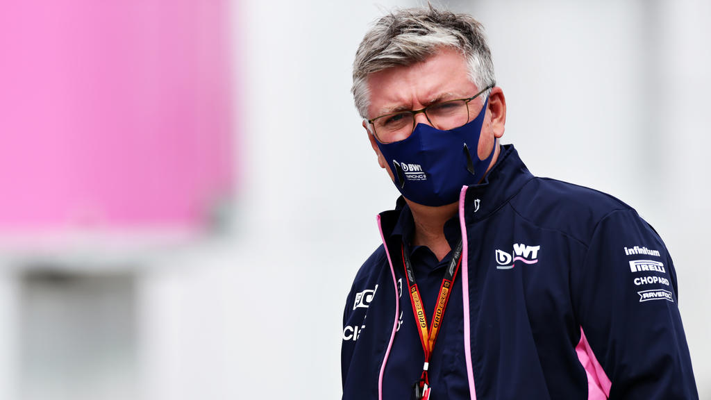 BUDAPEST, HUNGARY - JULY 18: Otmar Szafnauer, Team Principal and Chief Executive Officer of Racing Point walks in the Paddock before final practice for the F1 Grand Prix of Hungary at Hungaroring on July 18, 2020 in Budapest, Hungary. (Photo by Peter