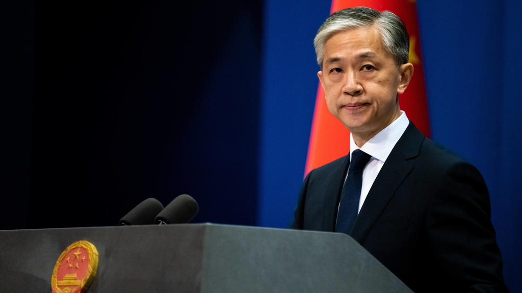 BEIJING, CHINA - JULY 20, 2020: China s new Foreign Ministry spokesperson Wang Wenbin gives a press conference. Artyom Ivanov/TASS PUBLICATIONxINxGERxAUTxONLY TS0E0A3B
