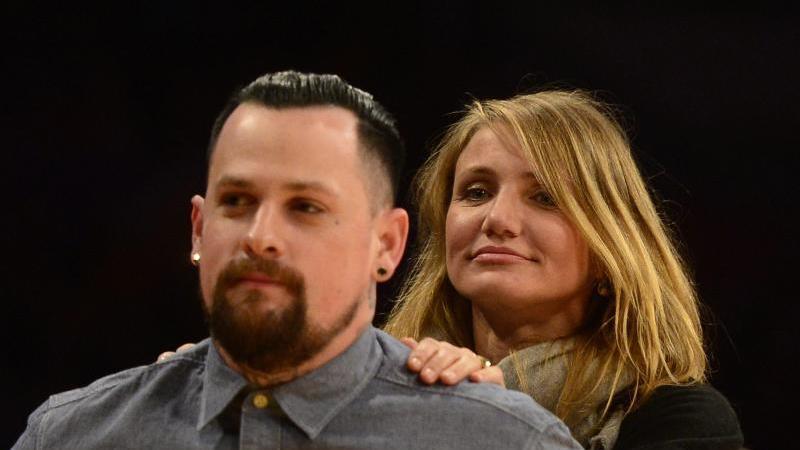 Die glücklichen Eltern: Cameron Diaz und Benji Madden. Foto: Michael Nelson/epa/dpa