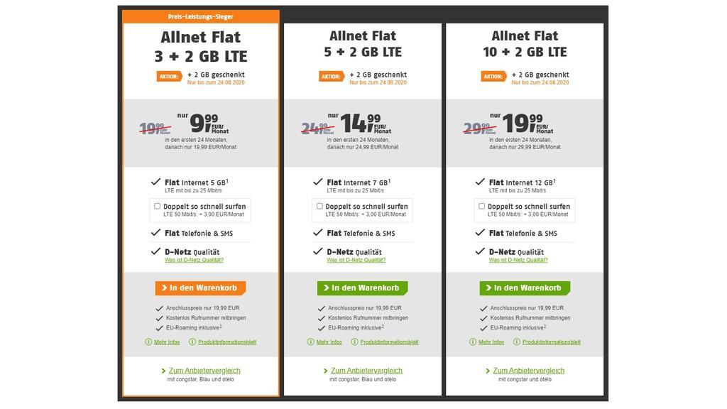 Allnet-Flats von Klarmobil