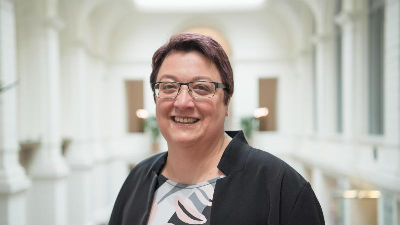 Karin Klingen, Präsidentin des Rechnungshofs Berlin. Foto: Jörg Carstensen/dpa/Archivbild