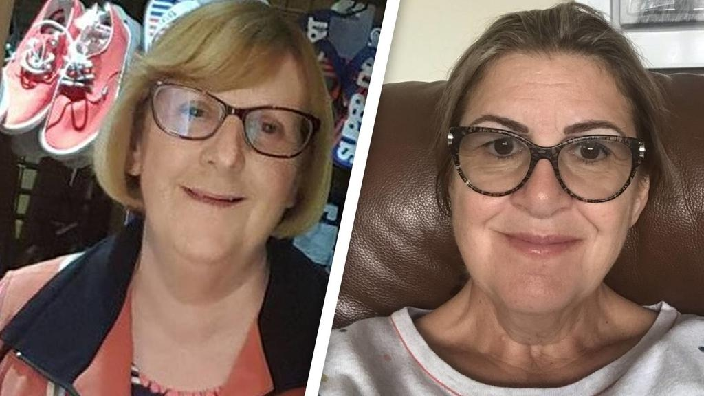 Joan Martindale und Nagelpflegerin Linda