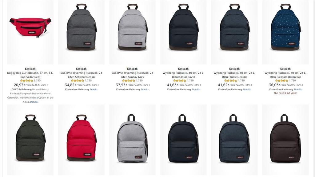 Rucksäcke und Taschen von Eastpak