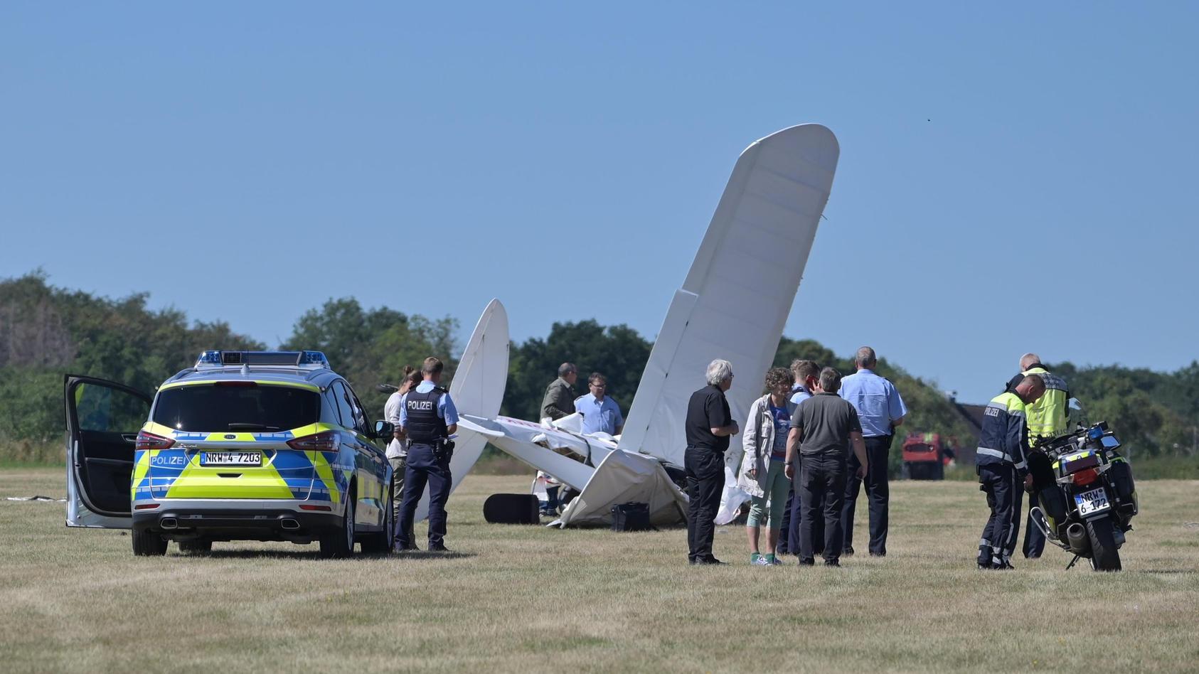 In Iserlohn ist ein Leichtflugzeug abgestürzt