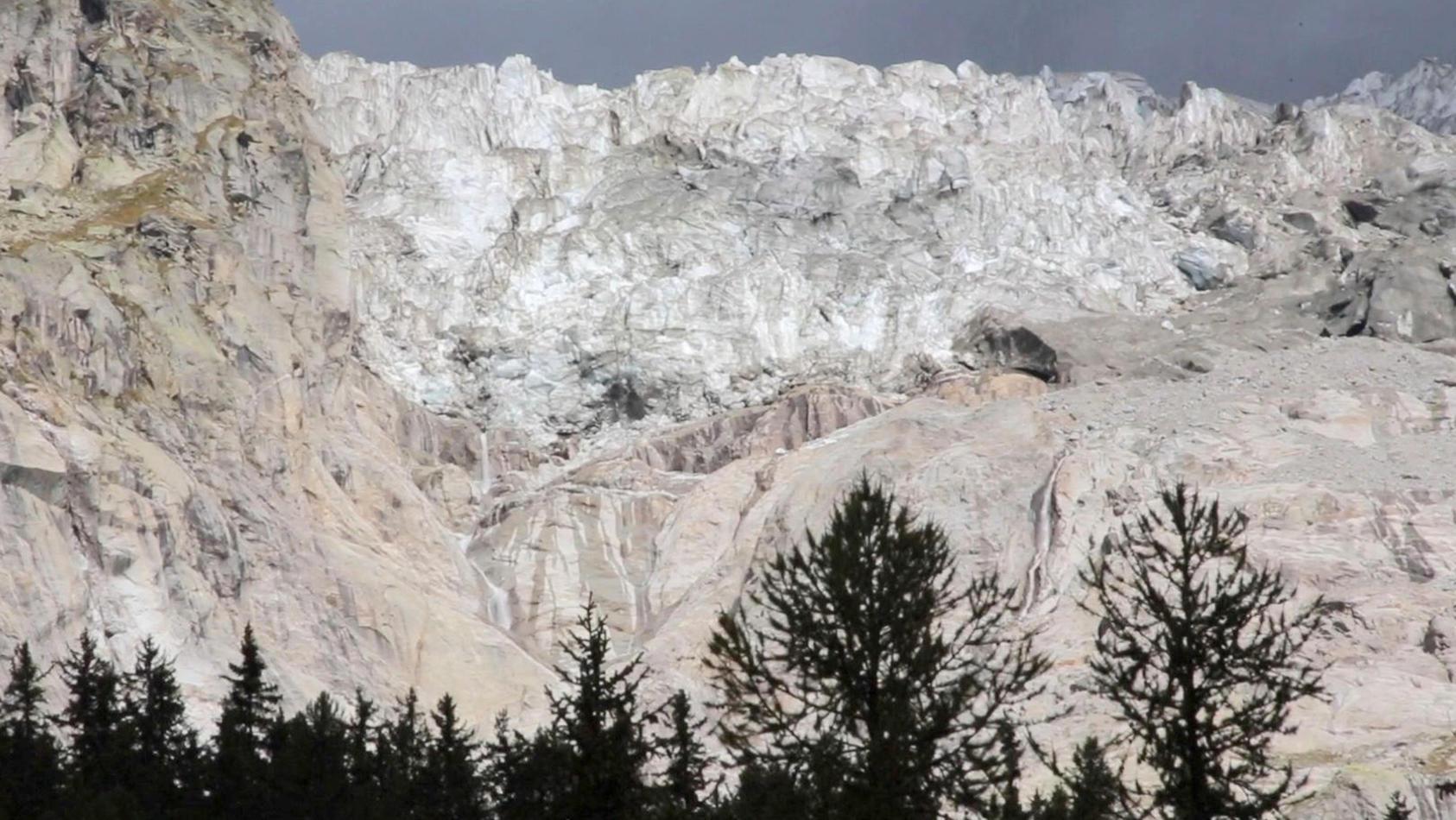 Drohender Gletschersturz im Aostatal