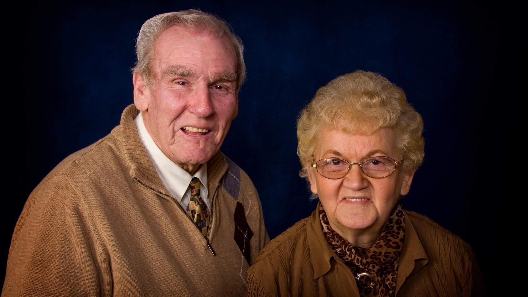 Raymond und Kathleen Atkins waren 70 Jahre lang ein Herz und eine Seele.