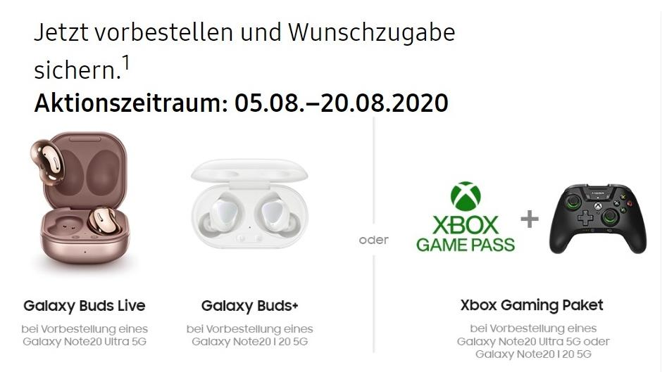 Galaxy Buds+ oder Xbox Game Pass, Controller &. Co.