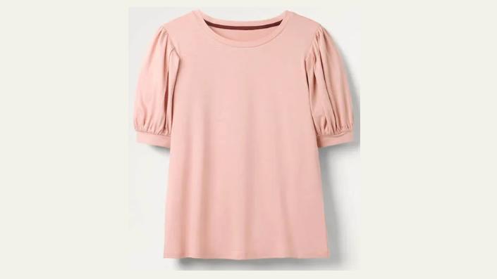 T-Shirt mit Puffärmeln.