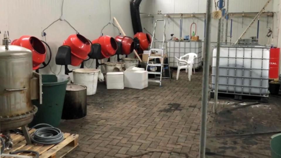 Kokswäsche in holländischem Drogenlabor.