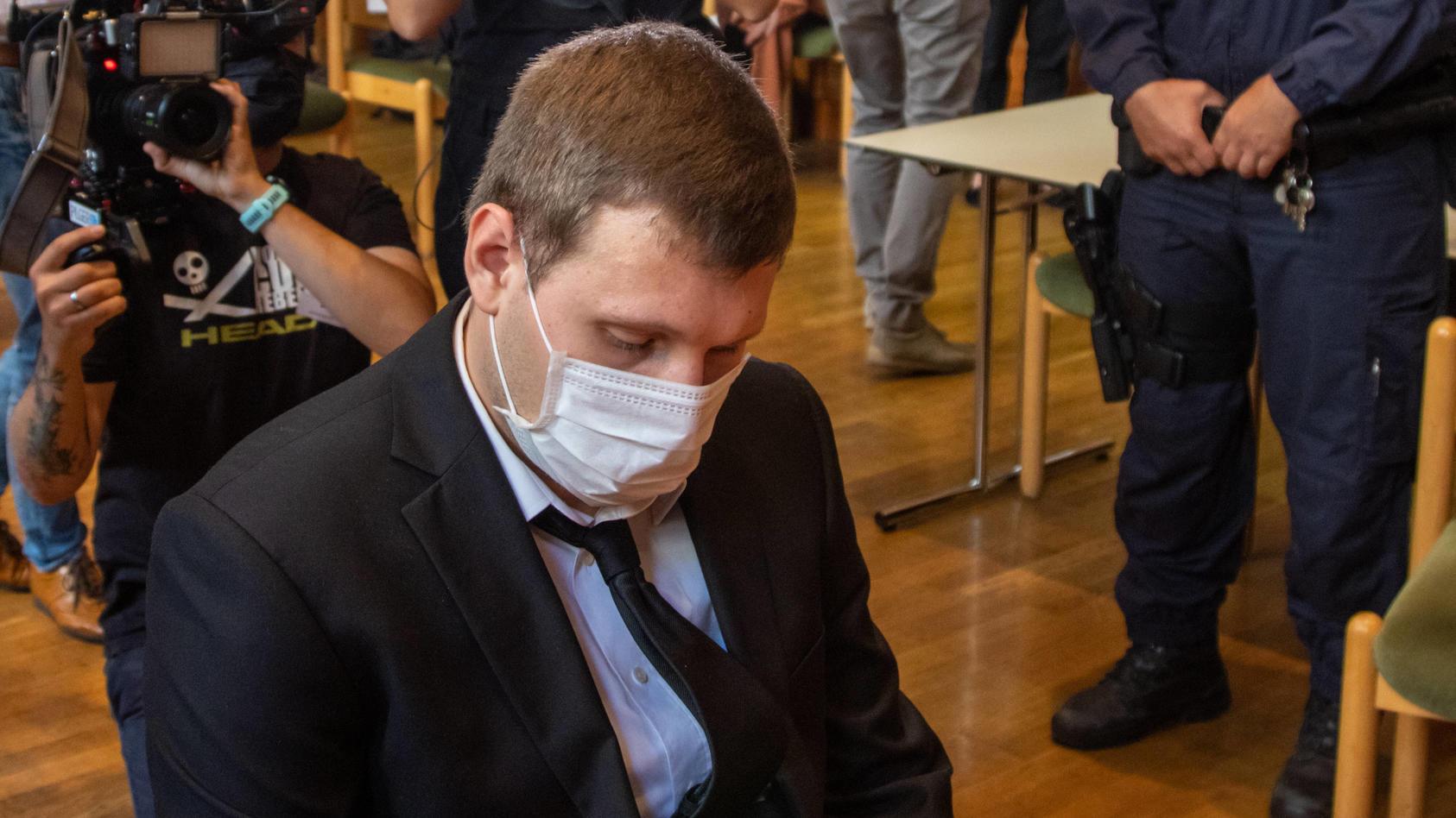 20200812 Verhandlung gegen den mutmaßlichen fünffach Mörder von Kitzbühel INNSBRUCK, ÖSTERREICH - AUGUST 12: Der mutmaß