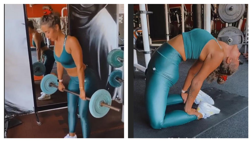Sarah Lombardi treibt viel Sport, um fit zu sein.
