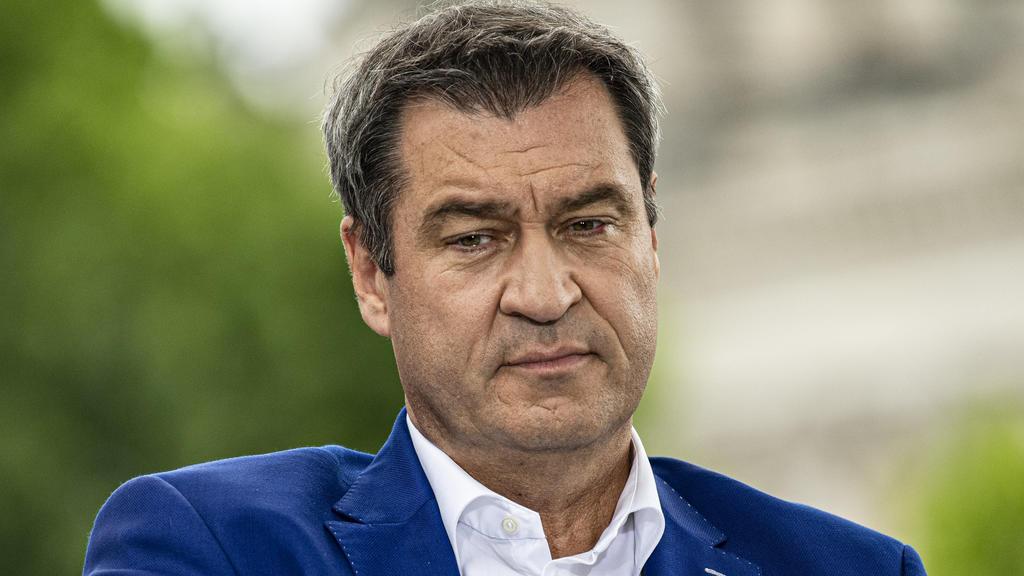 02.08.2020, Berlin: Markus Söder, Vorsitzender der CSU und Ministerpräsident von Bayern, aufgenommen beim ARD-Sommerinterview in der Sendung «Bericht aus Berlin». Foto: Fabian Sommer/dpa +++ dpa-Bildfunk +++