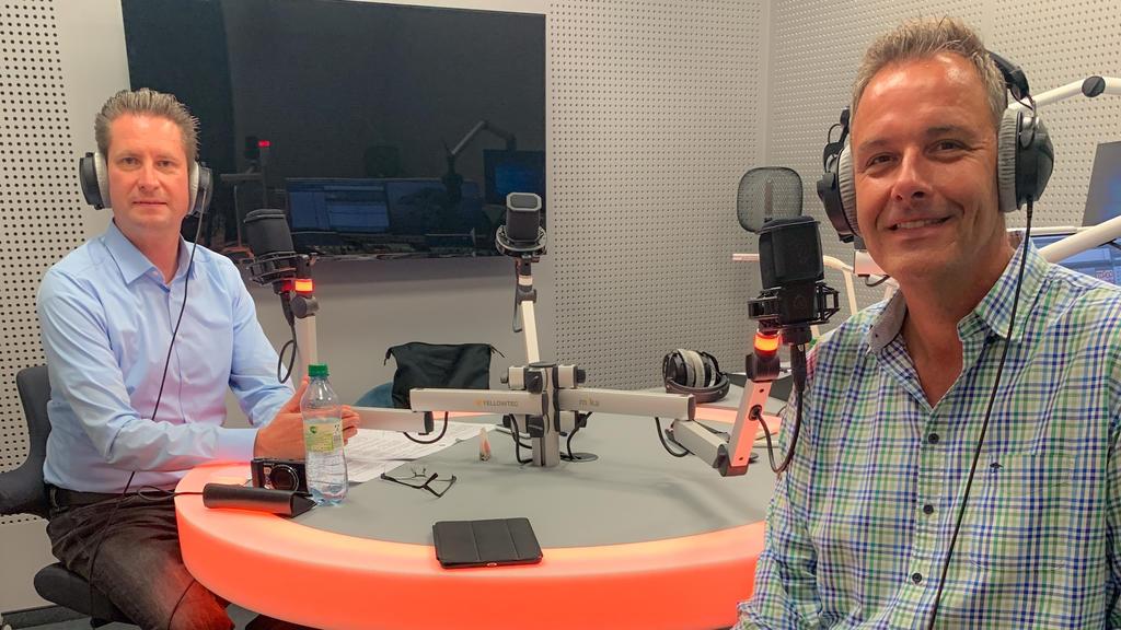 Thorsten Sleegers mit dem Gast Dr. Lars Ziegenhain