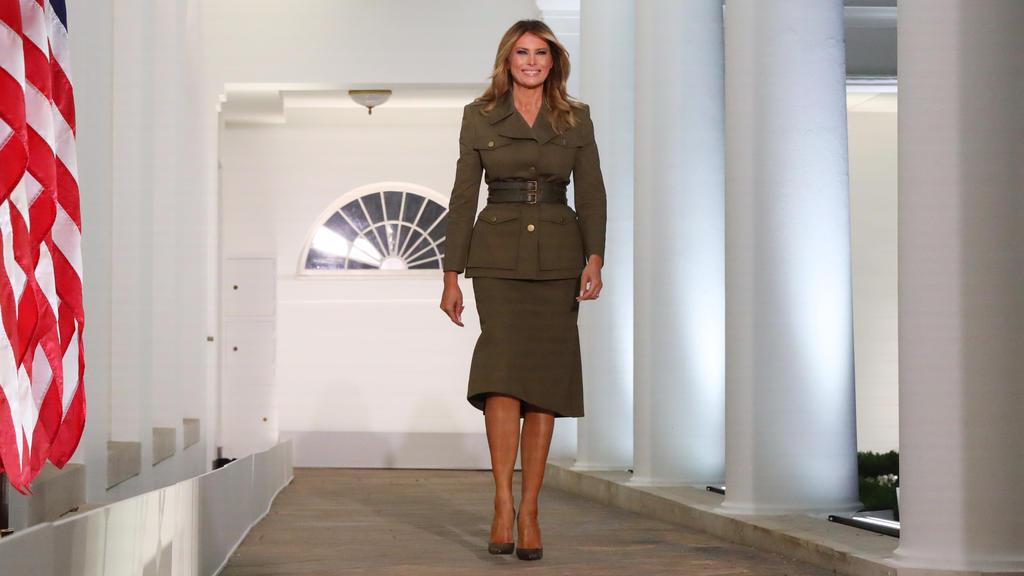 Melania Trump im Military-Look