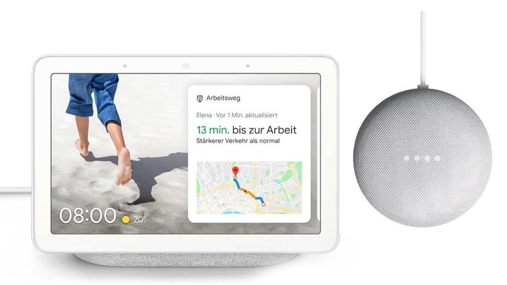 Google Nest Hub und  Google Nest Mini