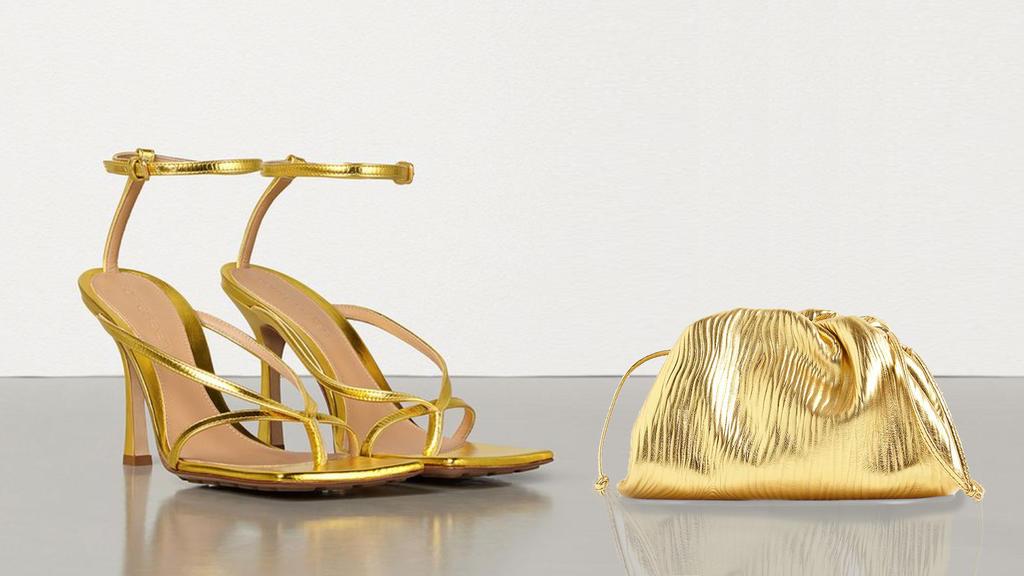 Schuhe und Tasche von Bottega Veneta