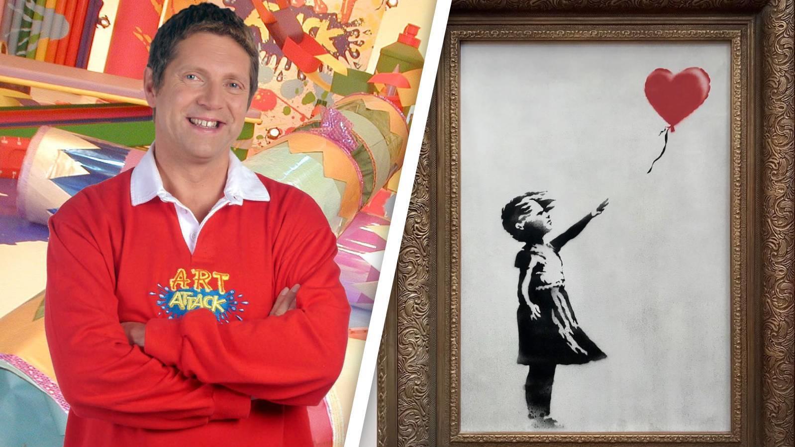 """Steckt hinter dem bekannten Künstler Banksy wirklich Neil Buchanan von """"Art Attack""""?"""