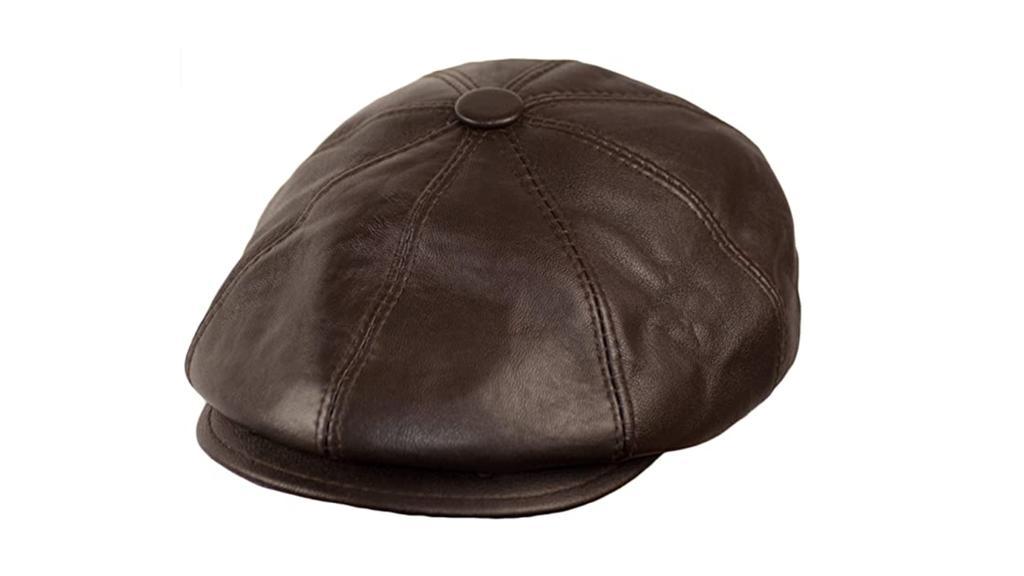 Ballonmütze aus Leder.
