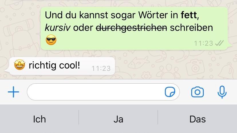 Screenshot WhatsApp Chatverlauf