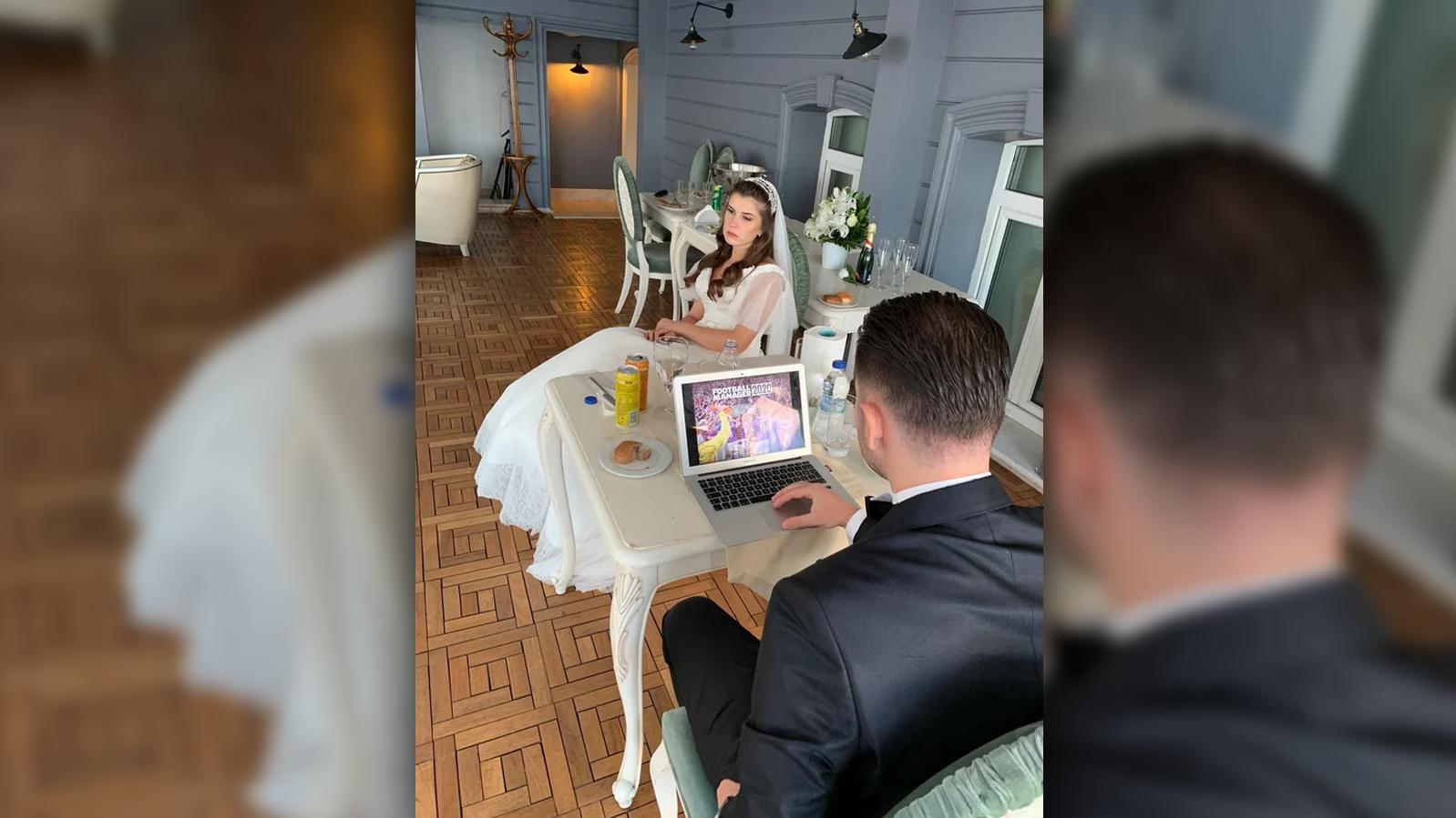 Wie würden Sie reagieren, wenn Ihr Liebster am Hochzeitstag anderweitig beschäftigt ist?