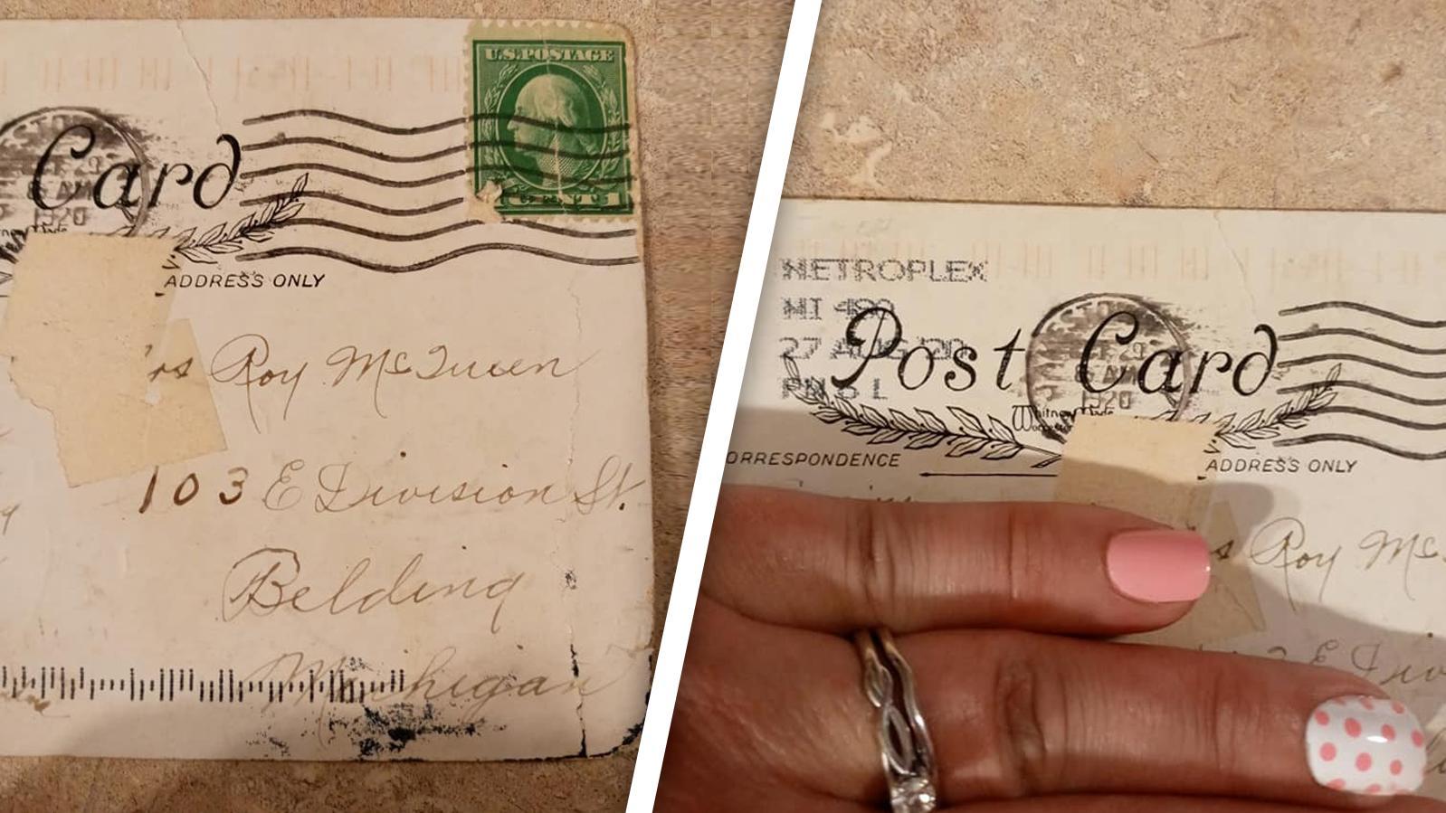 Die Postkarte hat einen Stempel von 1920.