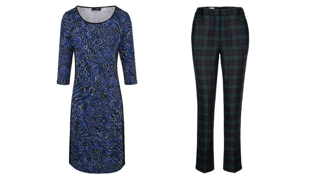 Herbst-Styles in der Trendfarbe Blau