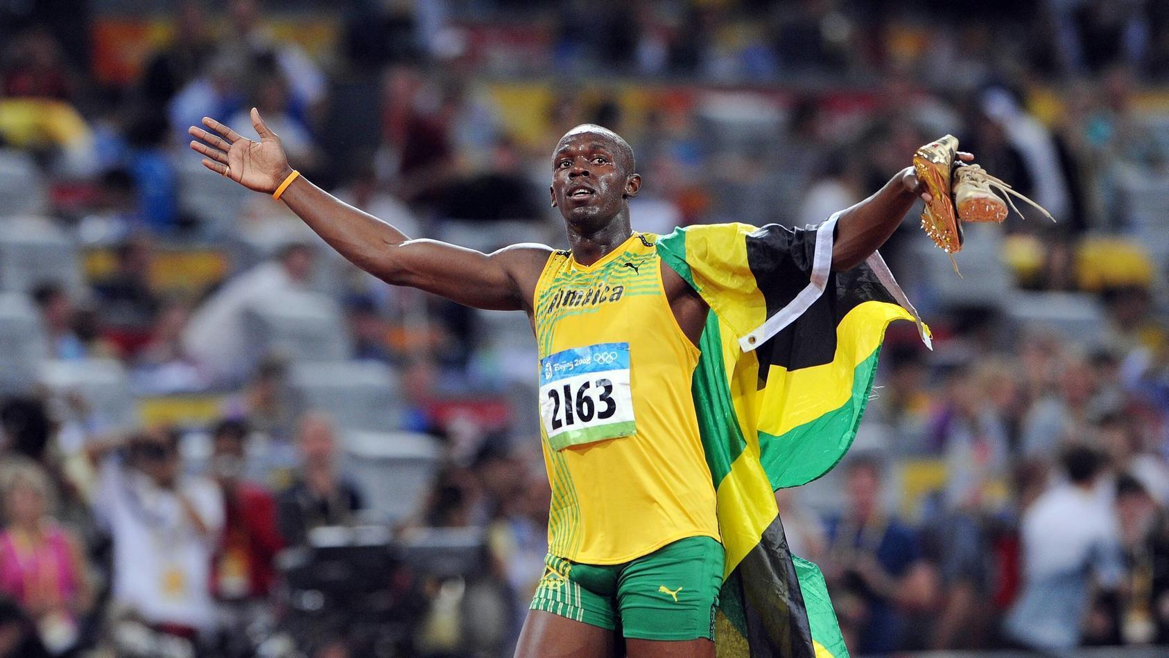 Usain Bolt (Jamaika) ist Olympiasieger über 100m - PUBLICATIONxNOTxINxSUIxAUTxNEDxITA