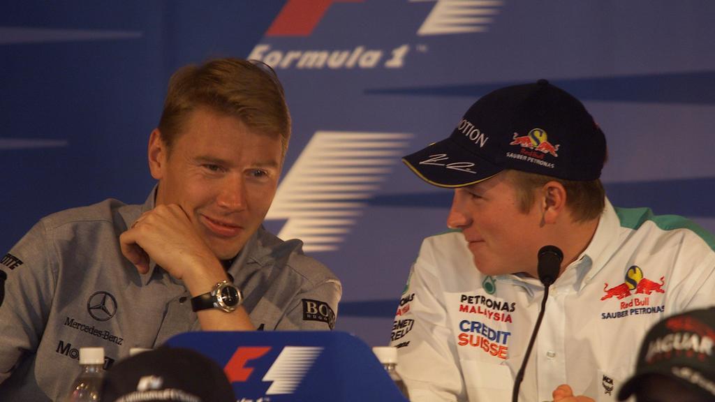 Mika Häkkinen und Kimi Räikkönen, 2001