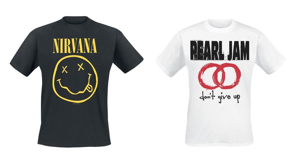 Grunge-Bandshirts für den authentischen Style