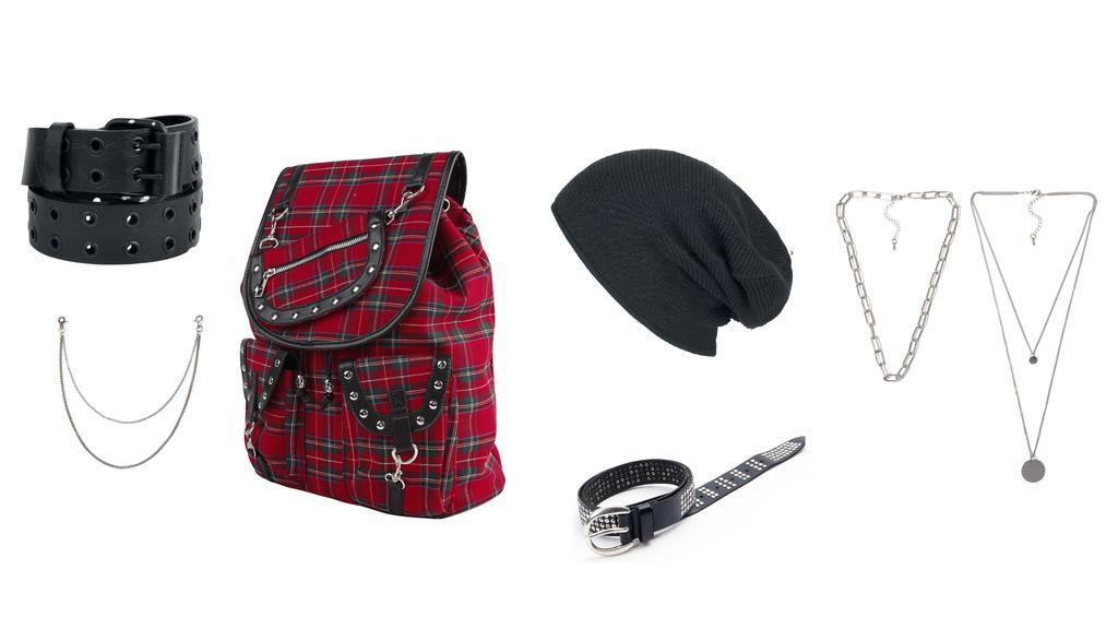 Accessoires für den Grunge-Look