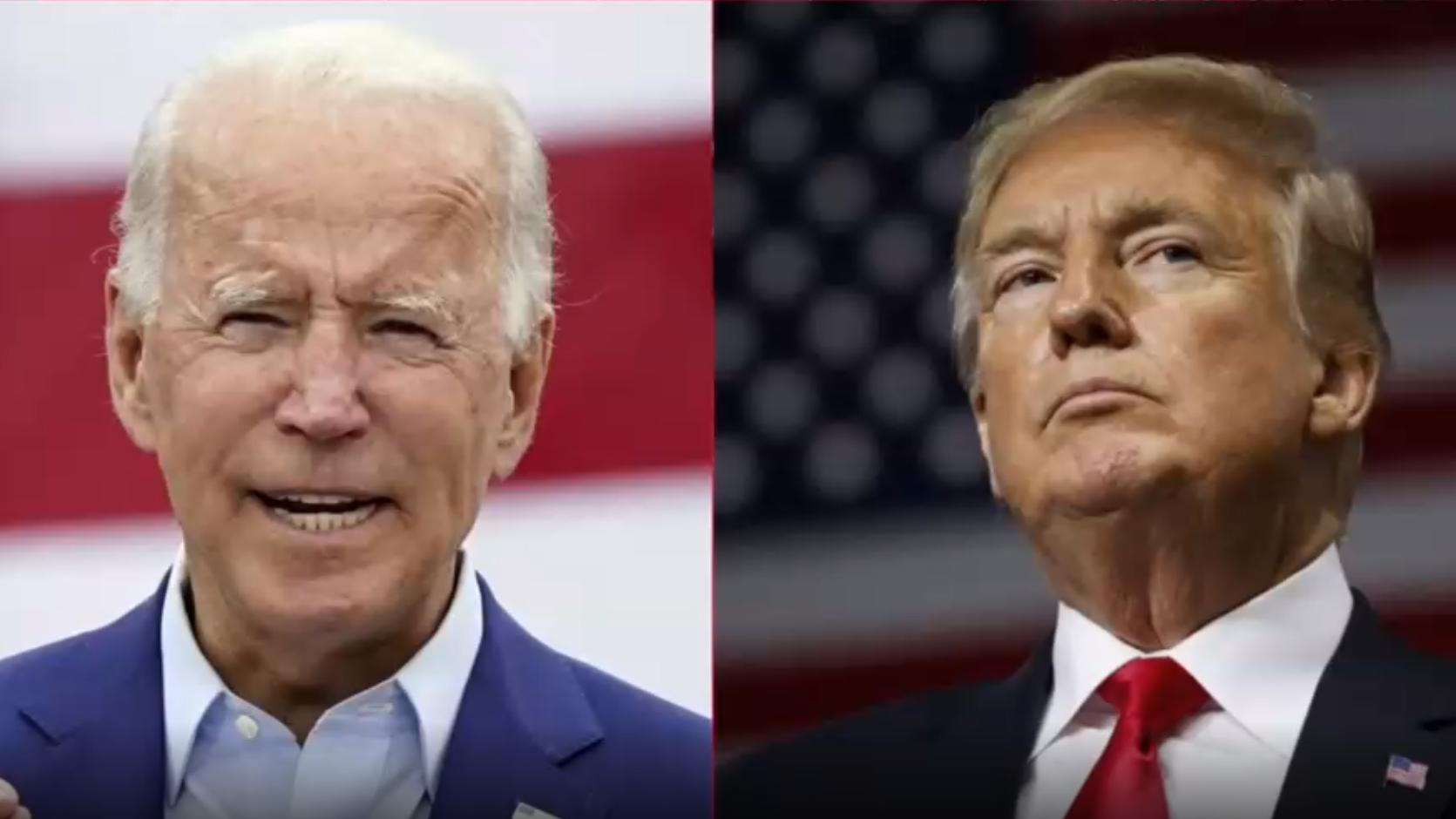 Trump und Biden liefern sich am Dienstag das erste TV-Duell.
