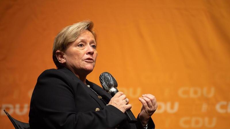 Susanne Eisenmann (CDU), Kultusministerin von Baden-Württemberg. Foto: Sebastian Gollnow/dpa/Archivbild