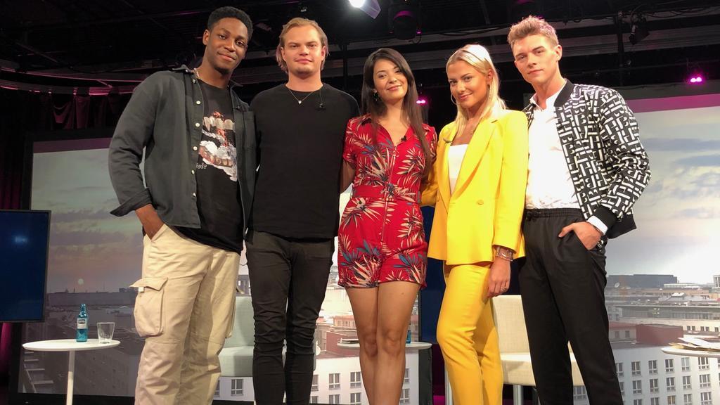 Ben Andres Rumler, Wilson Gonzalez Ochsenknecht, Meryl Marty, Valentina Pahde und Gerrit Klein waren beim Live-Event dabei.